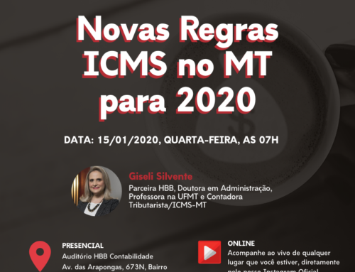 HBB realiza evento presencial e online para tratar sobre as mudanças do ICMS no estado do MT