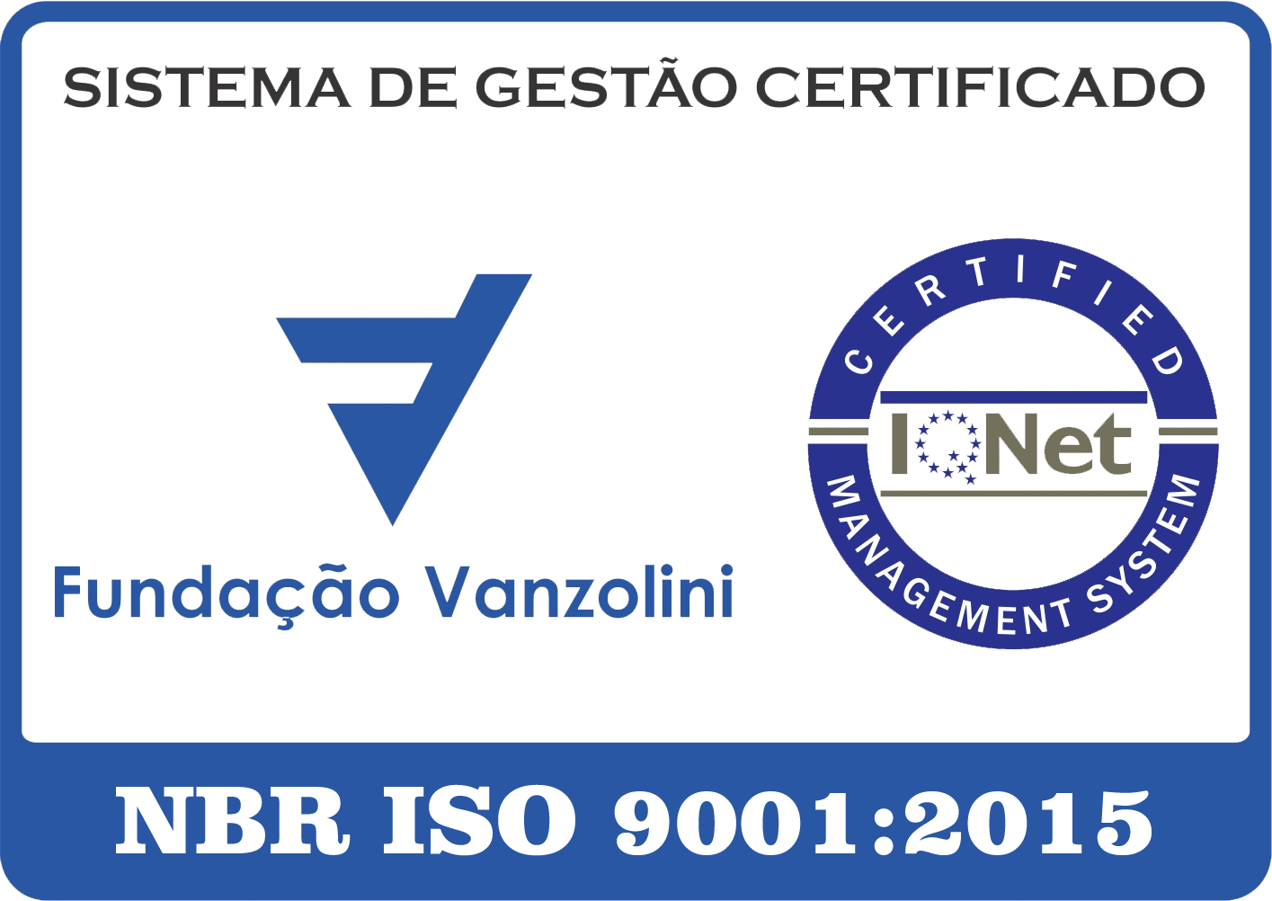Selo ISO 9001 VANZOLINI